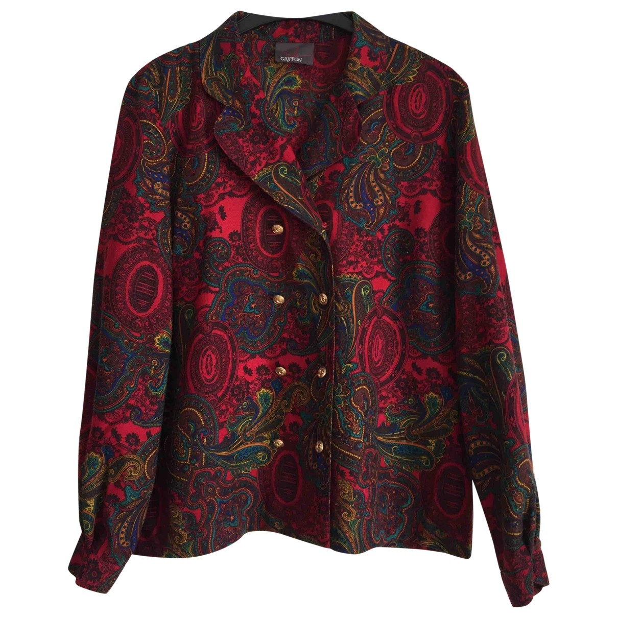 Non Signe / Unsigned \N Rocke in  Rot Polyester