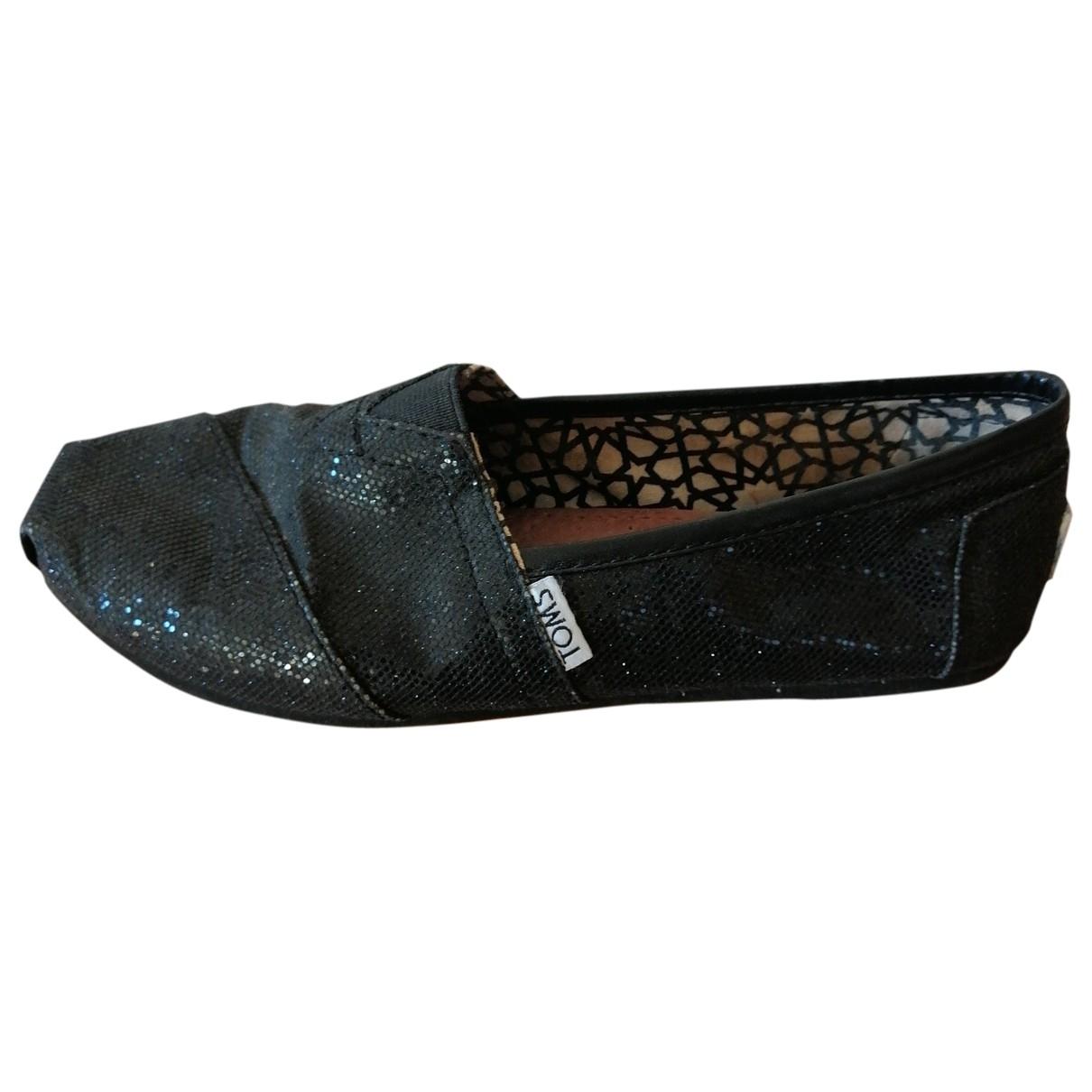 Toms - Espadrilles   pour femme en a paillettes - noir
