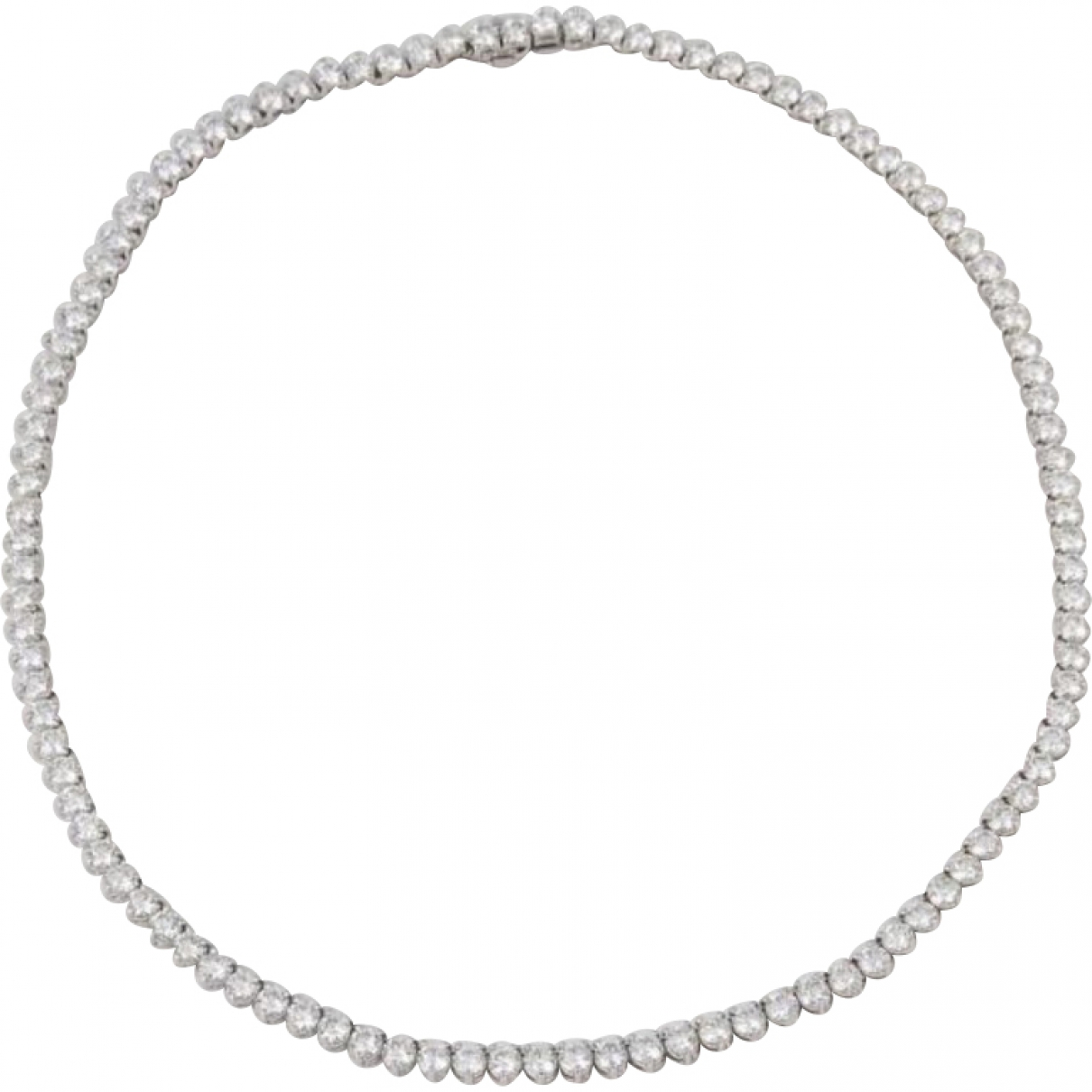 Non Signé / Unsigned Tennis White White gold necklace for Women \N
