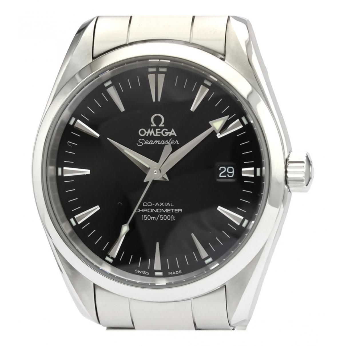 Omega - Montre Seamaster pour femme en acier - noir