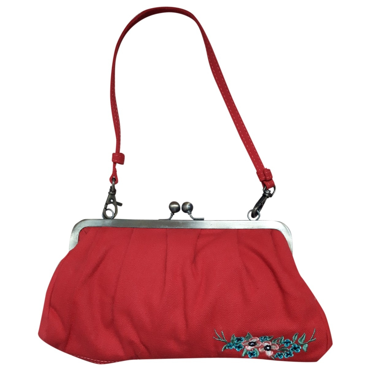Non Signe / Unsigned \N Clutch in  Rot Leinen