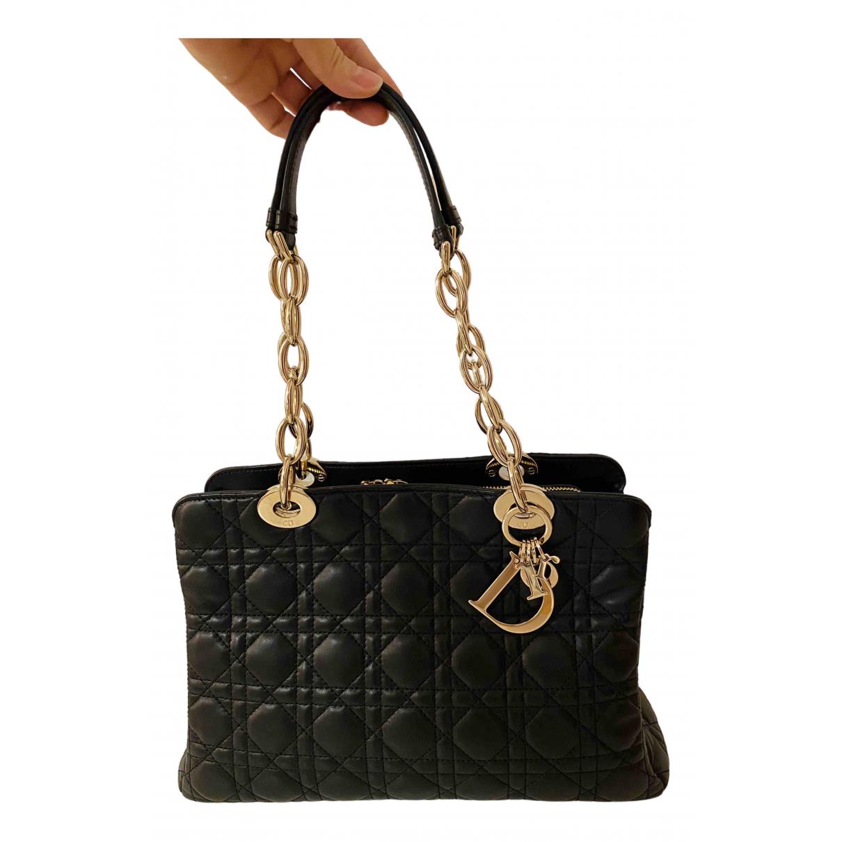 Dior Dior Soft Shopping Black Leather handbag for Women \N
