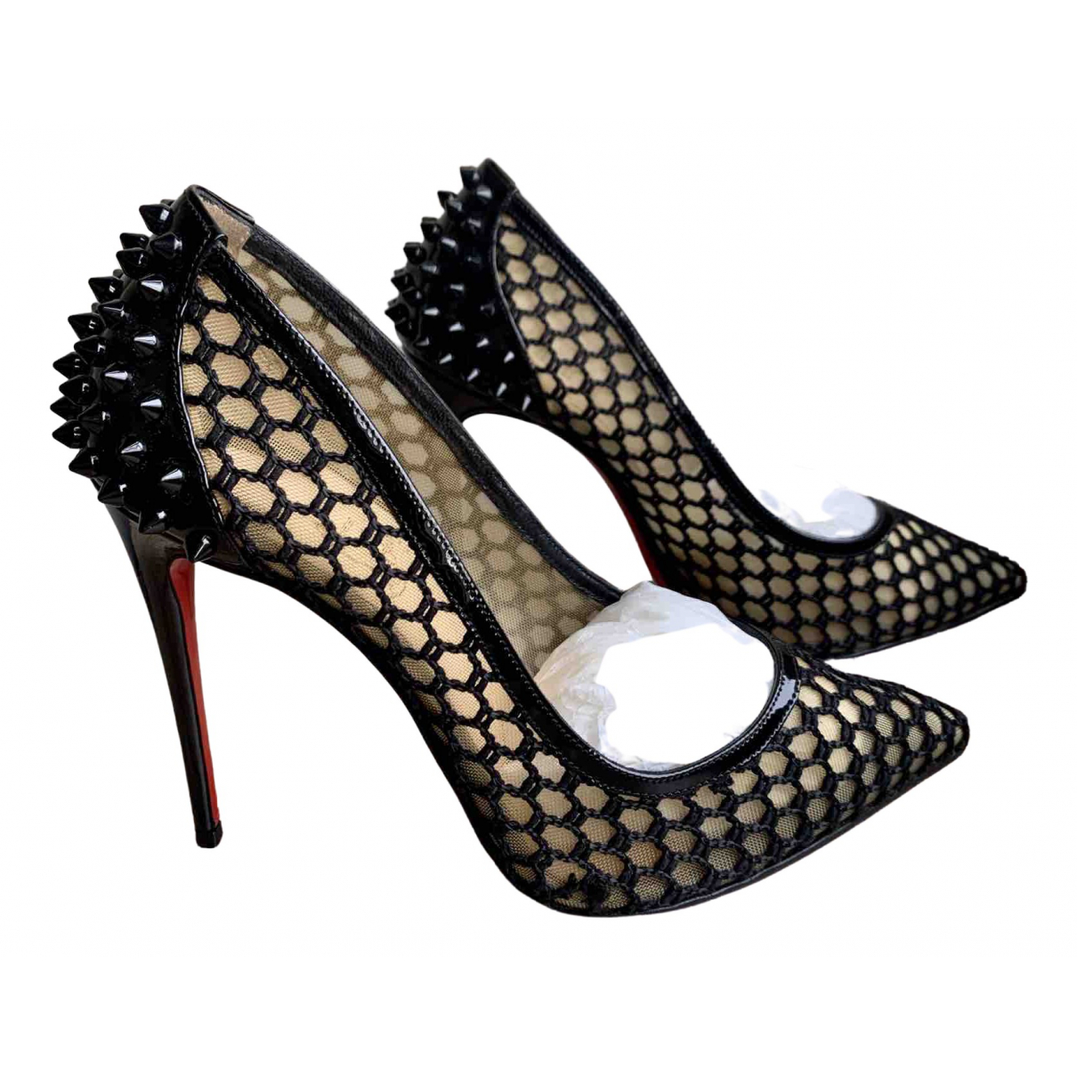 Christian Louboutin N Black Patent leather Heels for Women 38 EU