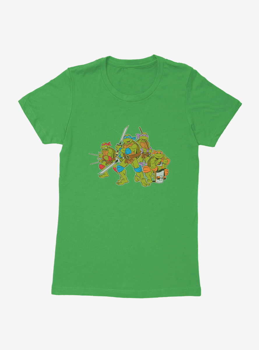 Teenage Mutant Ninja Turtles Snack Break Womens T-Shirt