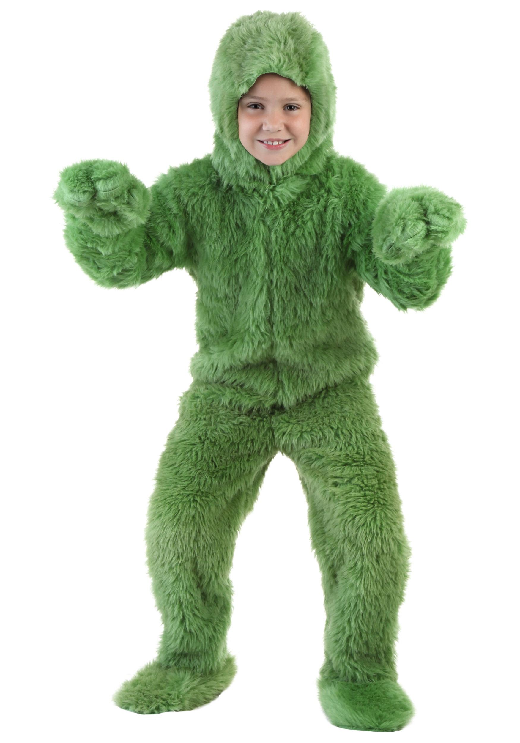 Green Furry Jumpsuit Costume