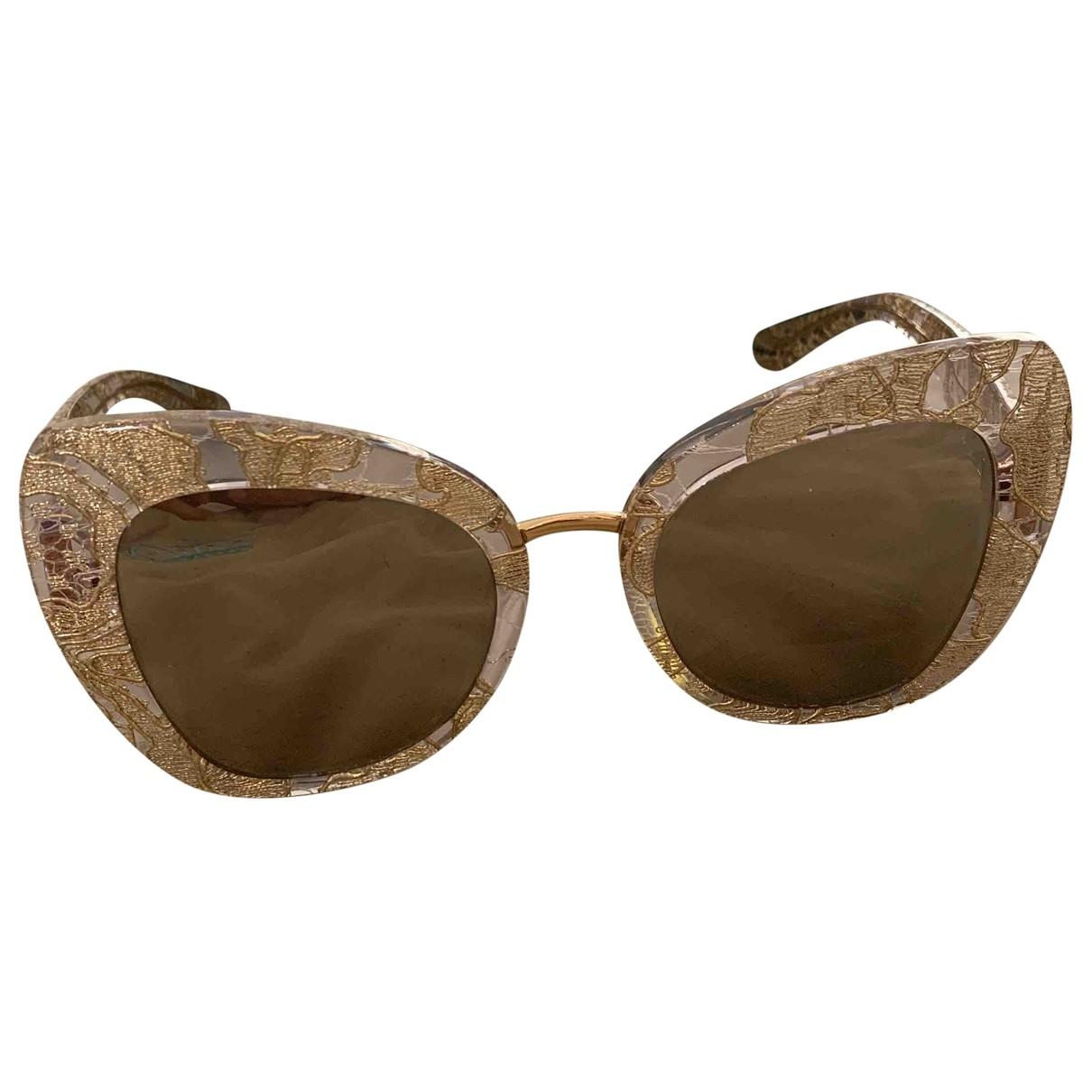 Dolce & Gabbana \N Sonnenbrillen in  Gold Kunststoff