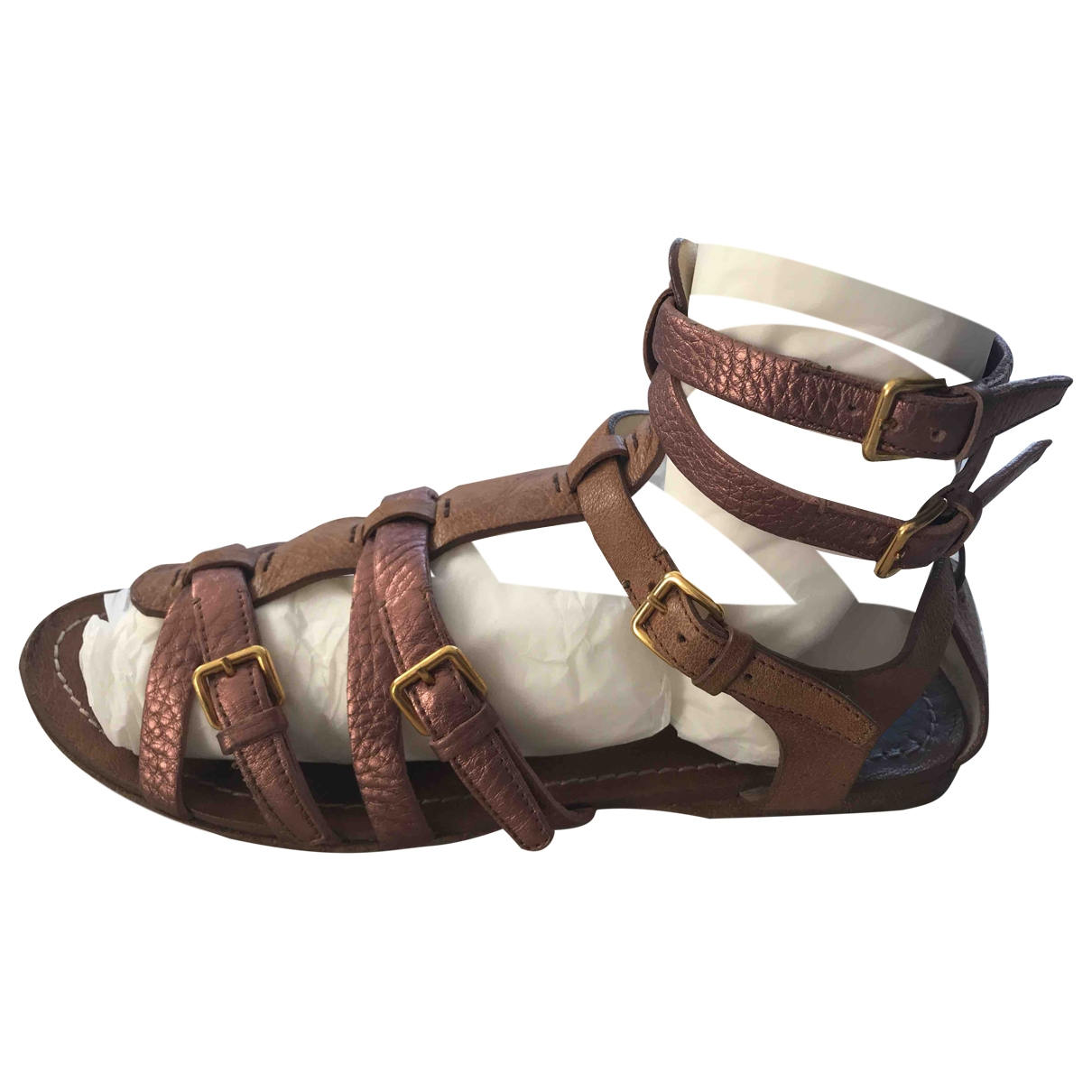 Miu Miu \N Brown Leather Sandals for Women 39 EU