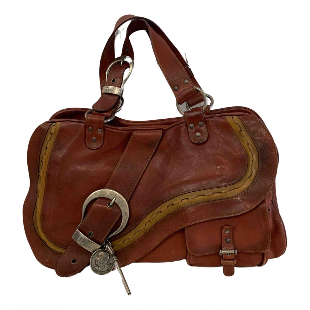 Dior Gaucho Red Leather handbag for Women \N