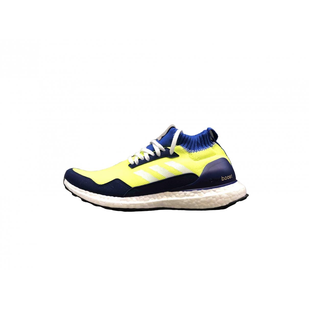 Adidas - Baskets Ultraboost pour homme en toile - jaune
