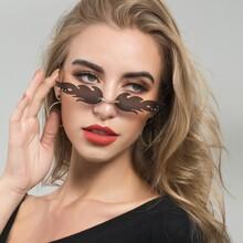 Flame Design Rimless Sunglasses