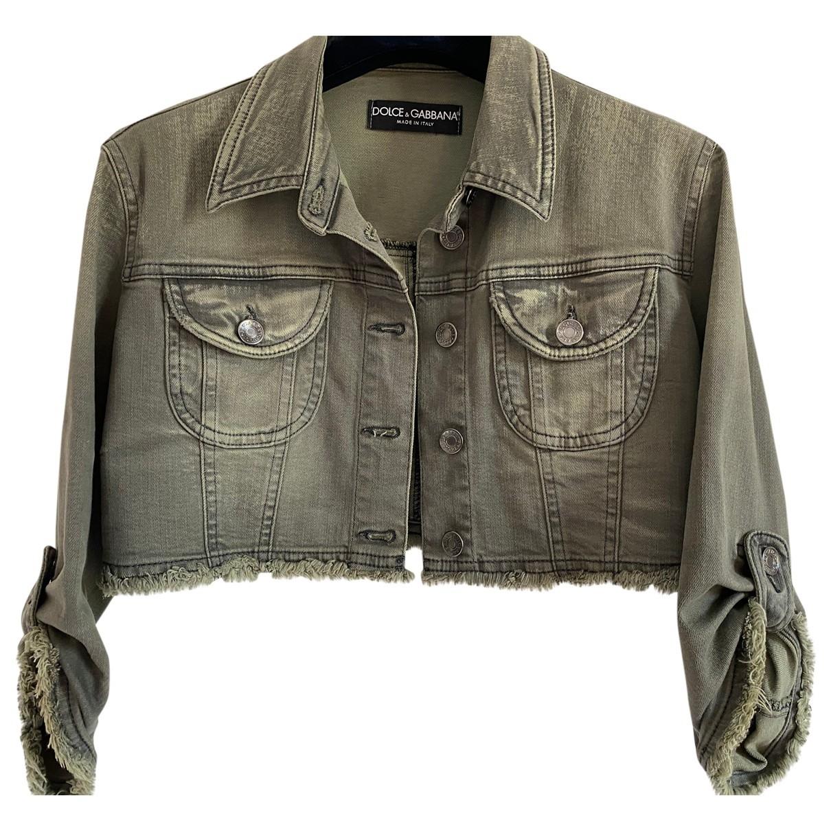 Dolce & Gabbana \N Green Denim - Jeans jacket for Women 38 IT