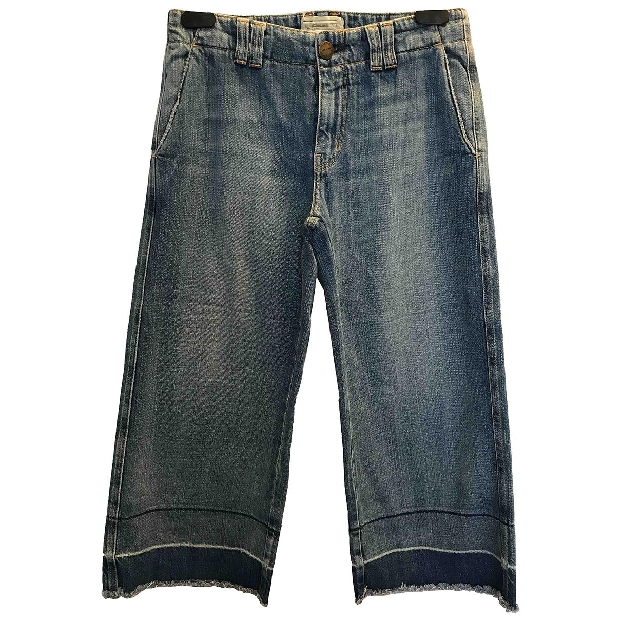 Current Elliott \N Blue Cotton Jeans for Women 25 US