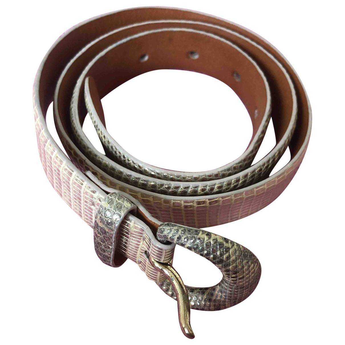 Cinturon de Lagartija Ralph Lauren