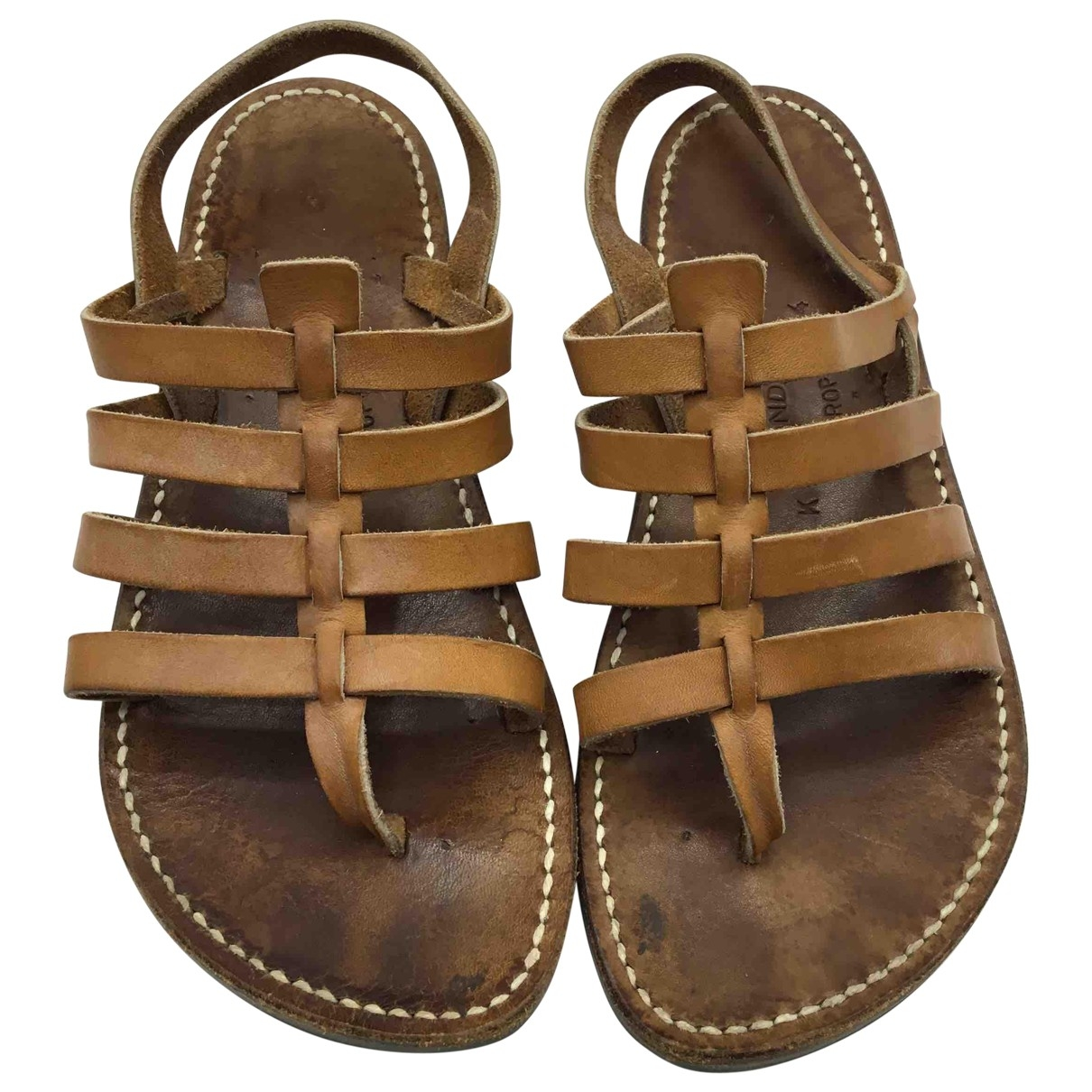 Rondini \N Brown Leather Sandals for Kids 34 EU
