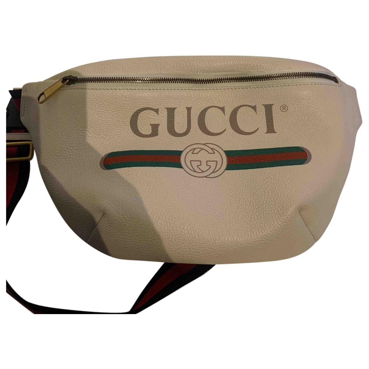 Gucci - Petite maroquinerie   pour homme en cuir - blanc