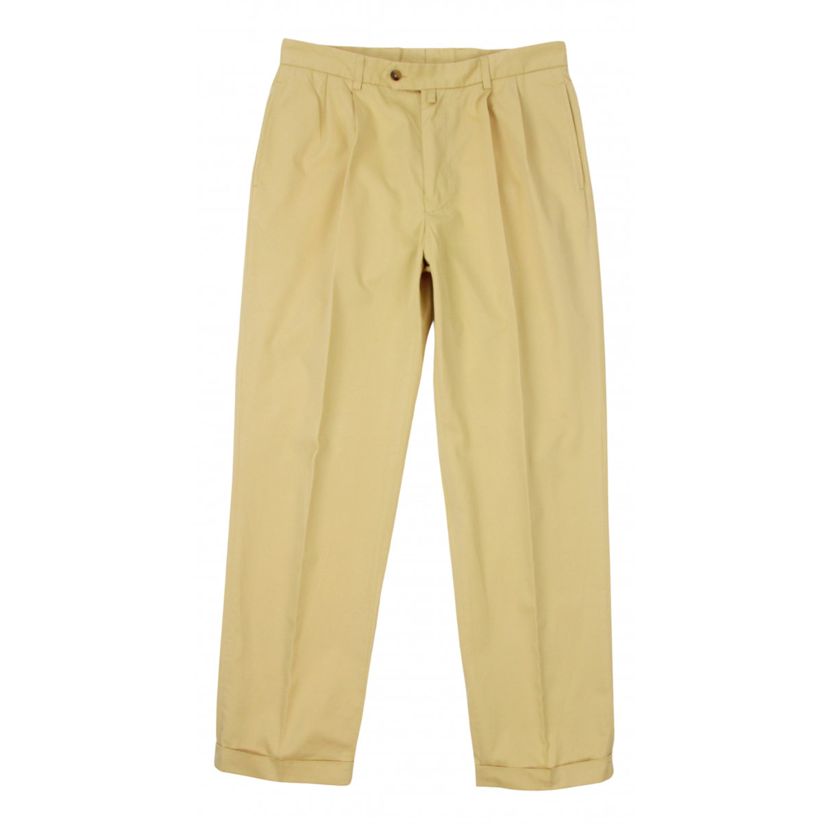 Pantalones en Algodon Amarillo Gant