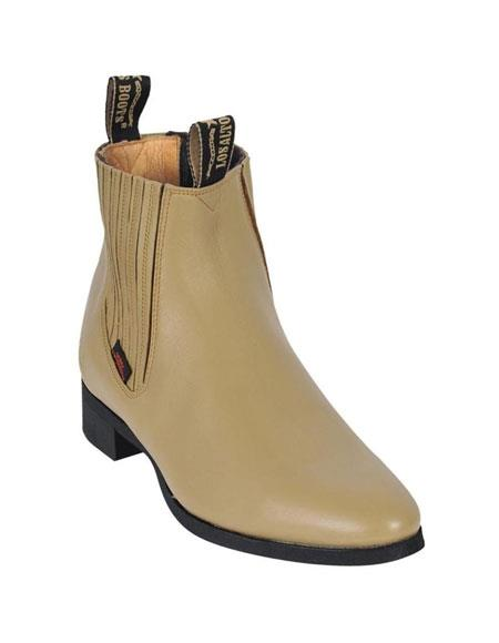 Los Altos Charro Botin Short Ankle Deer Oryx Leather Boots For Men