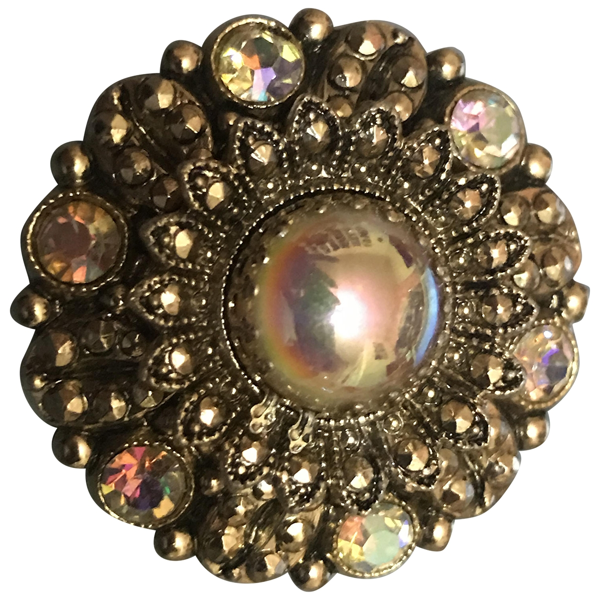 Non Signé / Unsigned Art Déco Gold Crystal Pins & brooches for Women \N