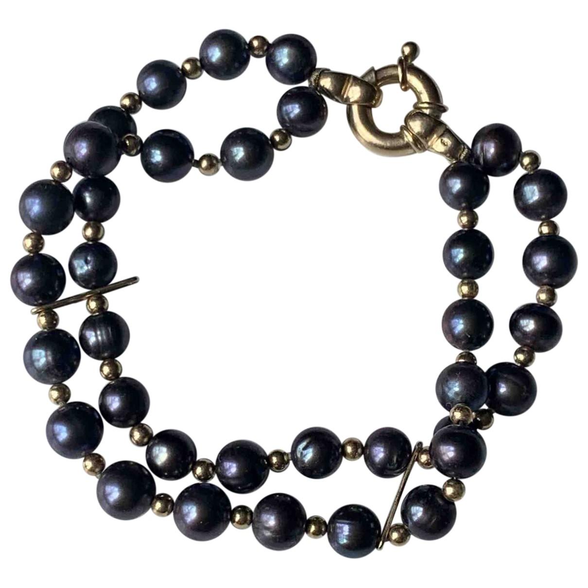 Non Signé / Unsigned \N Black Pearls bracelet for Women \N