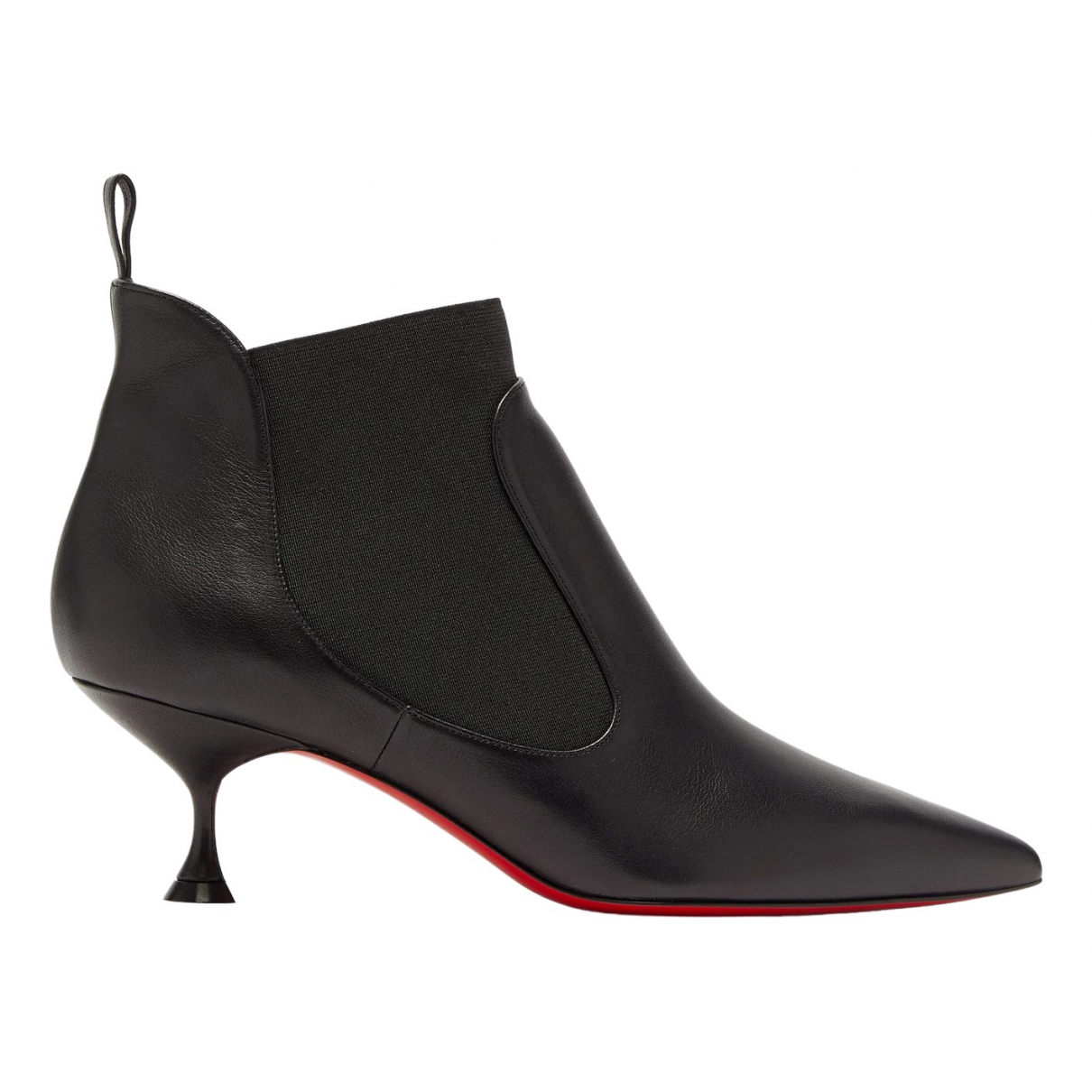 Christian Louboutin \N Black Leather Ankle boots for Women 34.5 EU