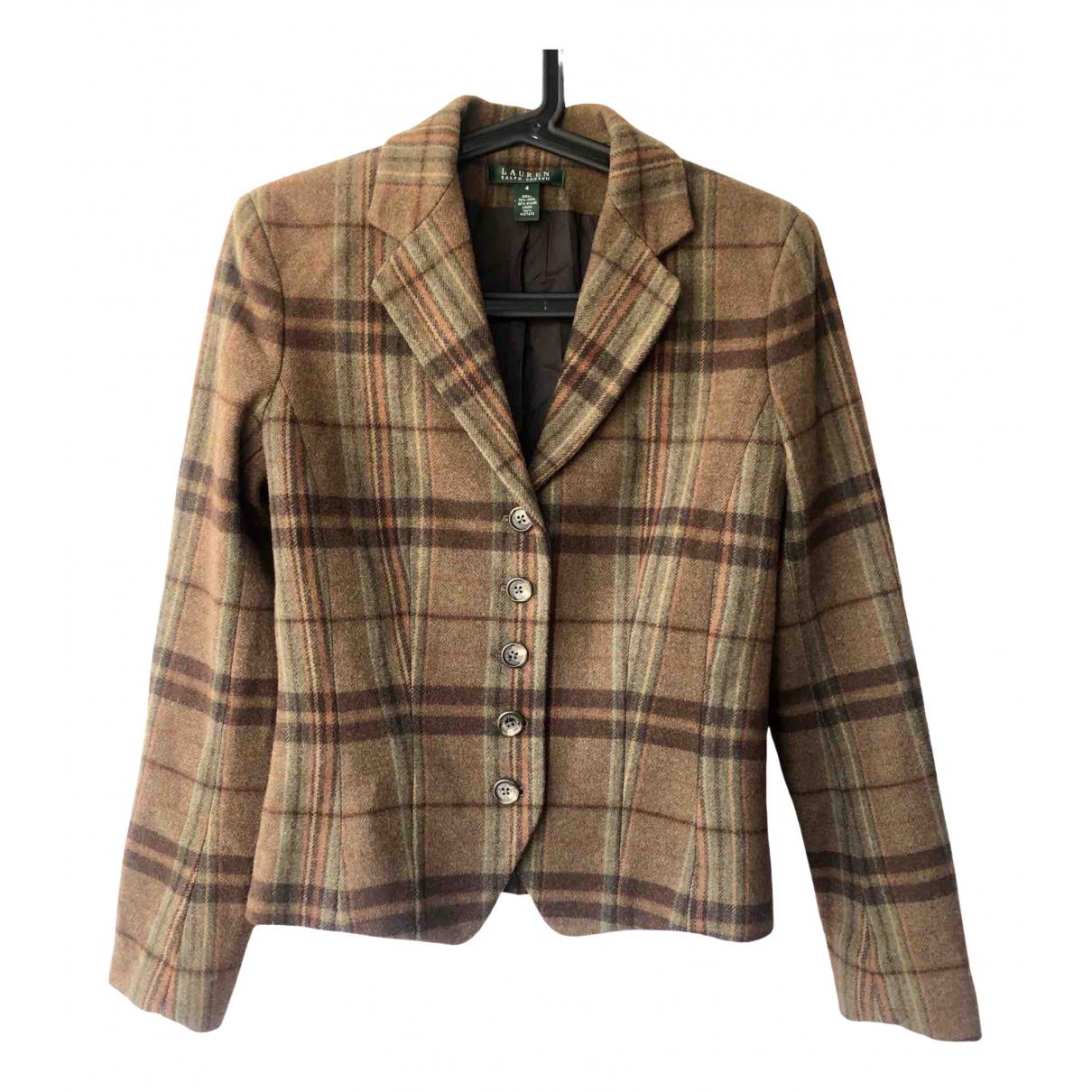 Lauren Ralph Lauren \N Brown Wool jacket for Women 4 US