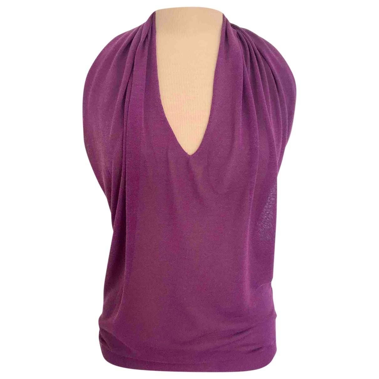 Etro \N Purple Cotton  top for Women 38 IT