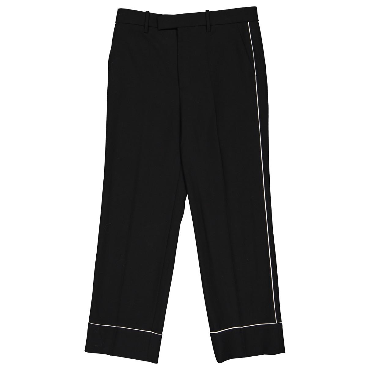 Gucci \N Black Wool Trousers for Women 40 IT