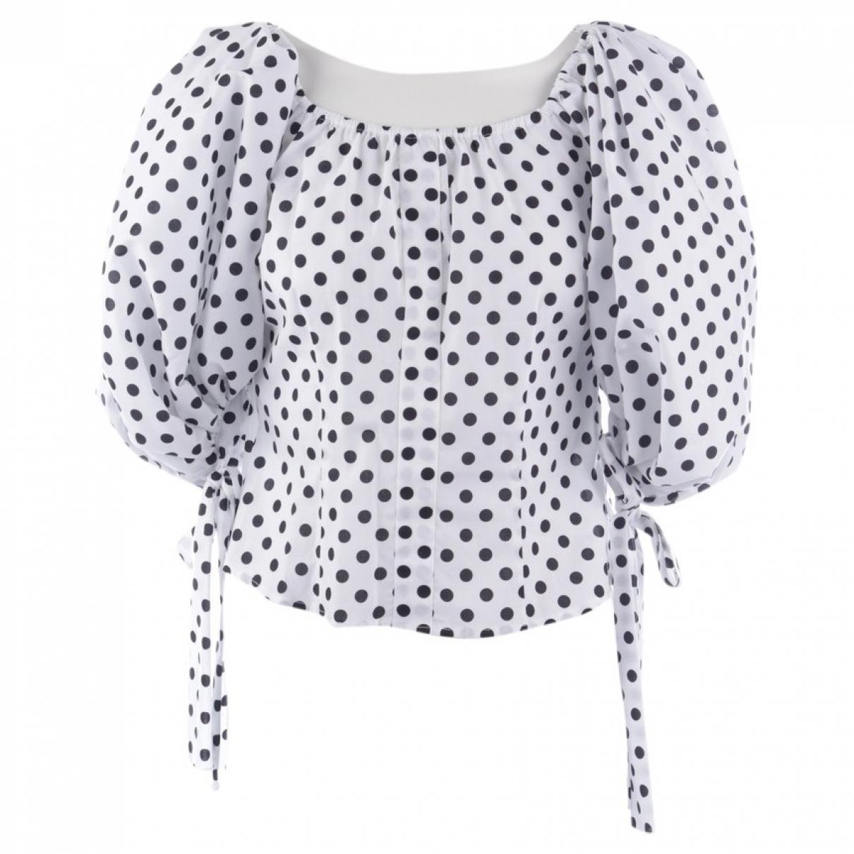 Caroline Constas - Top   pour femme en coton - blanc