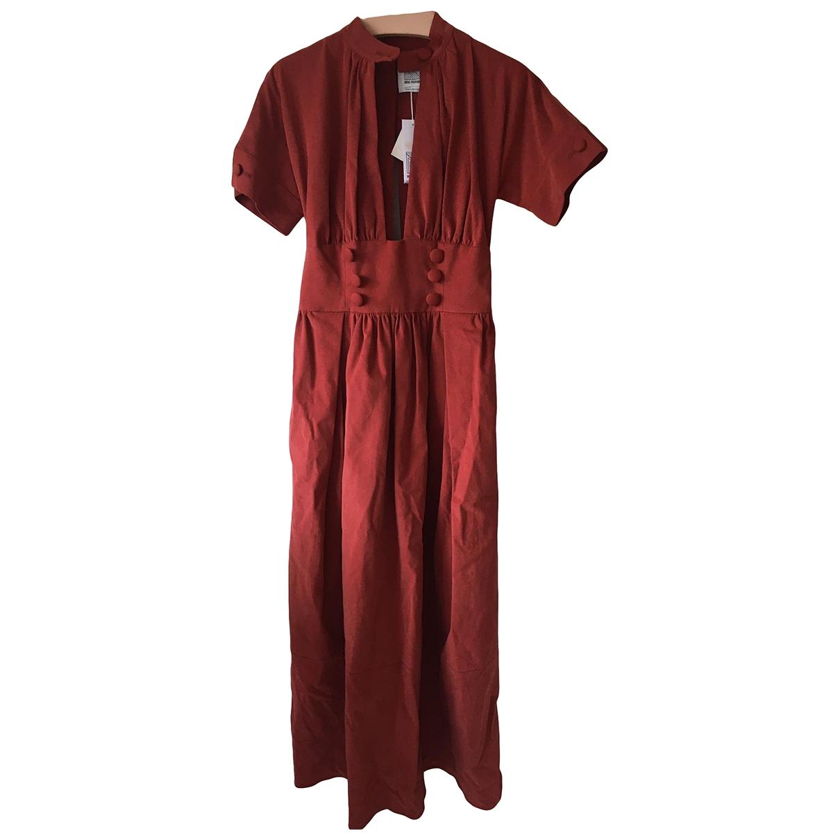 Rosie Assoulin \N Kleid in  Rot Baumwolle - Elasthan
