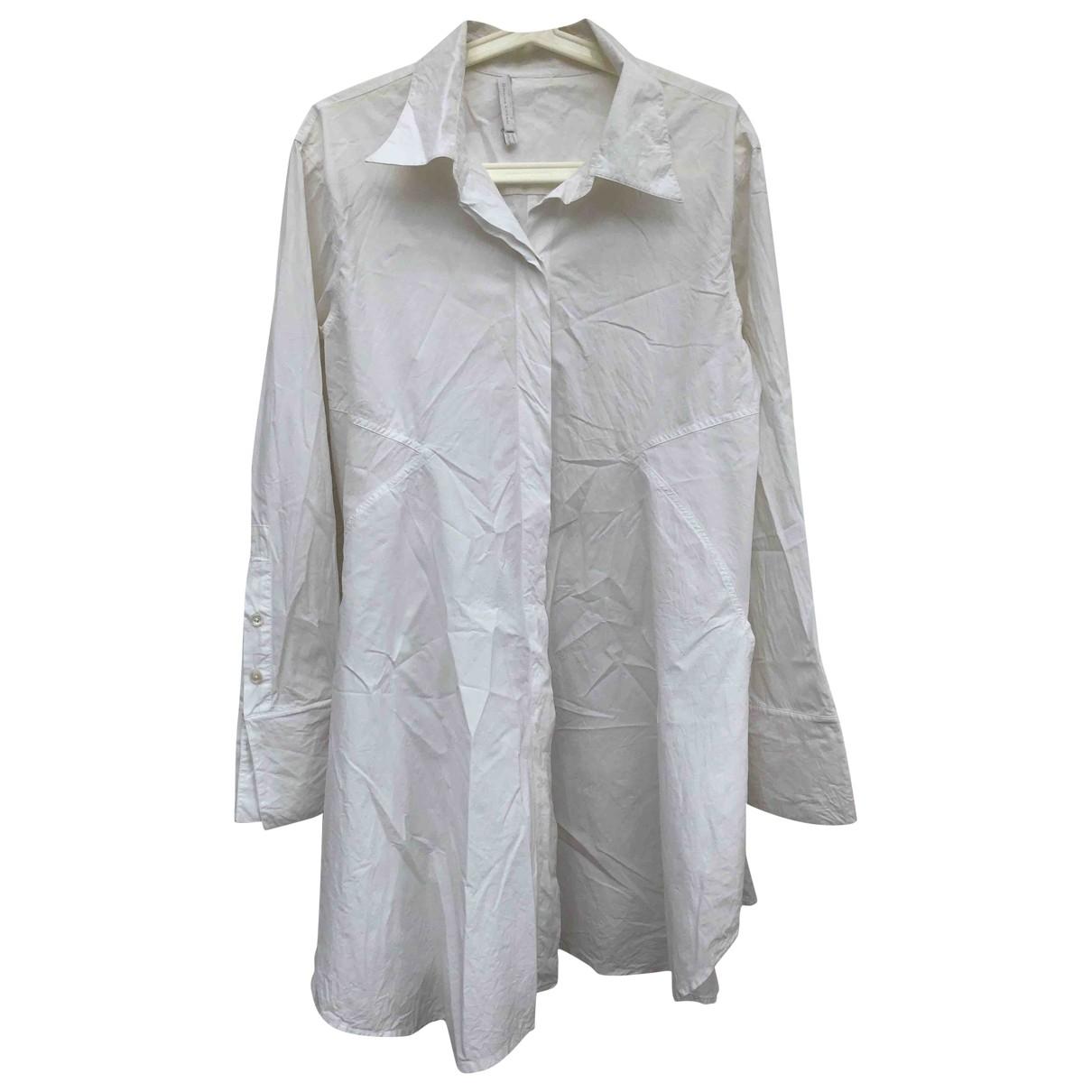 Donna Karan - Robe   pour femme en coton - elasthane - blanc