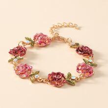 Armband mit Blumen Dekor