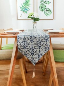Royal Flower Pattern Table Runner