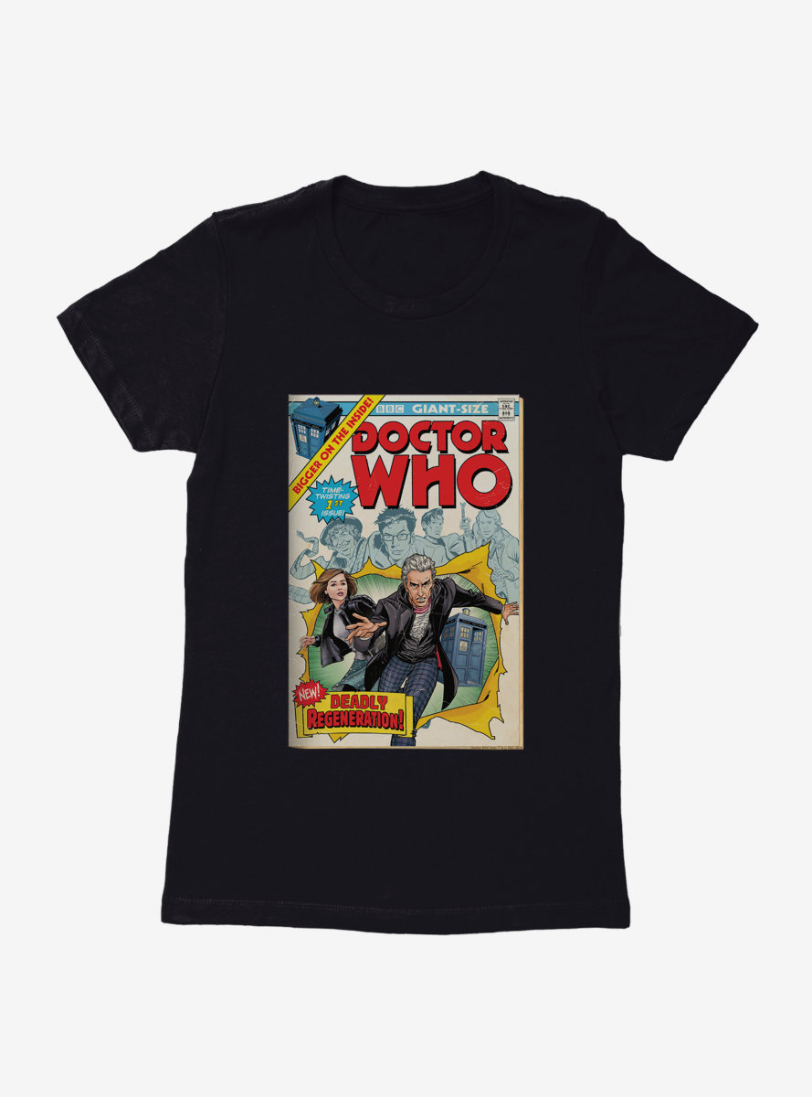 Doctor Who Twelfth Doctor Deadly Regeneration Comic Womens T-Shirt