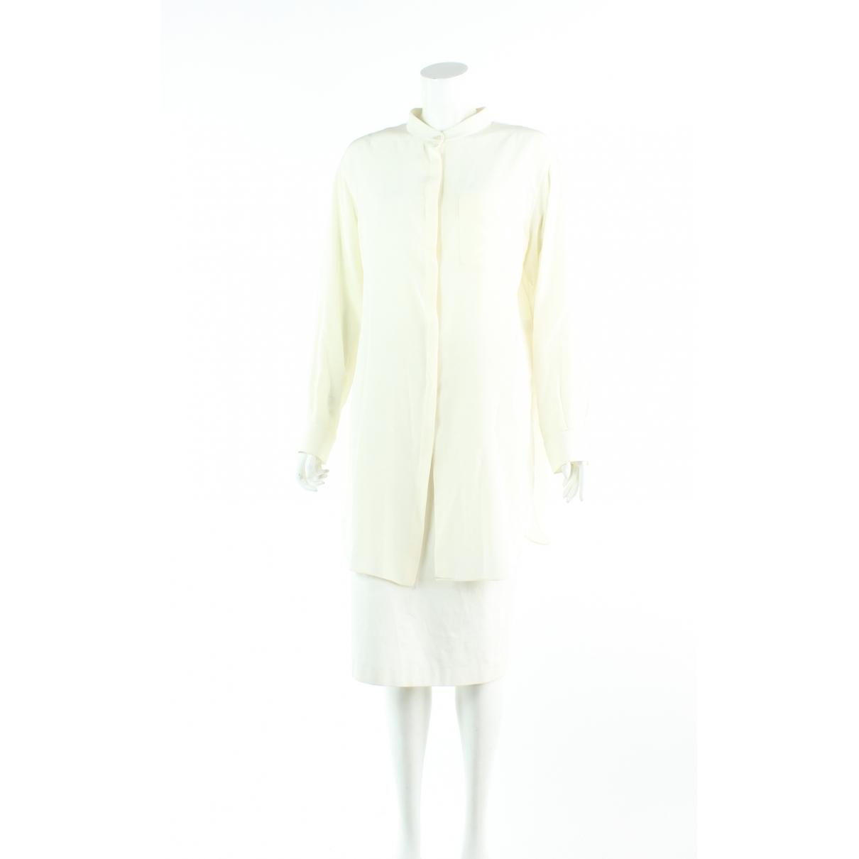 Chloé \N Ecru Silk  top for Women 40 FR