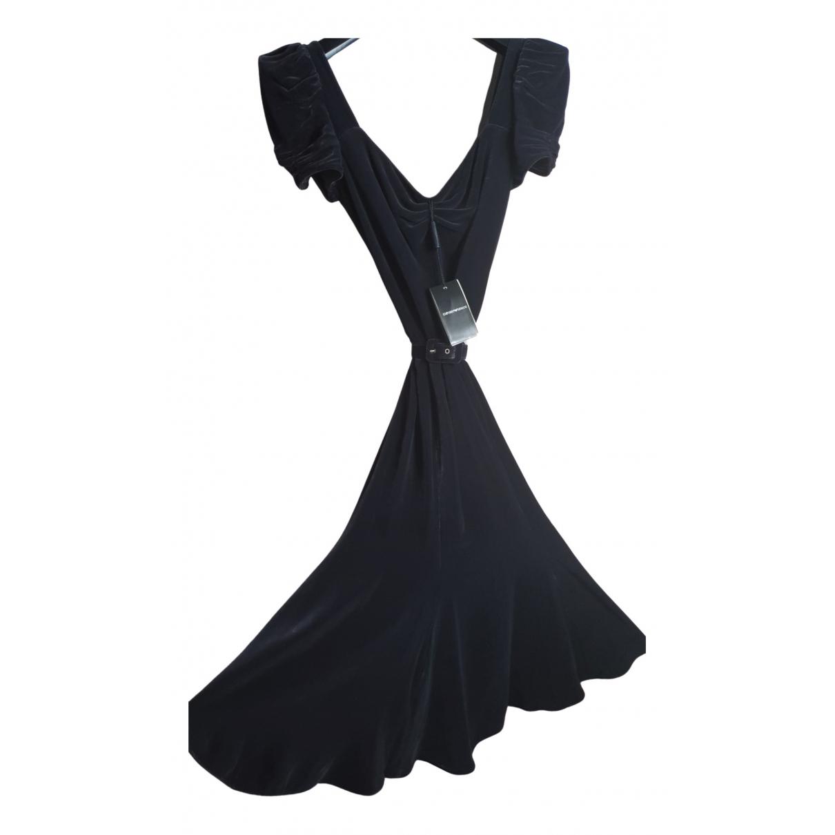 Emporio Armani \N Kleid in  Braun Viskose