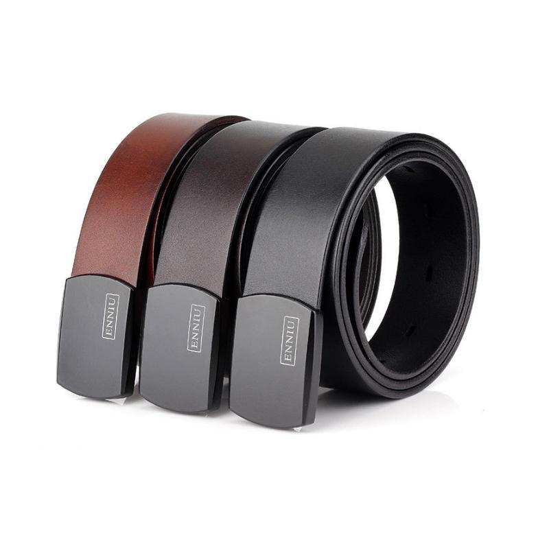 130cm ENNIU LT03 Casual Leather Belt Alloy Buckle Waist Belt Military Tactical Belt Waistband