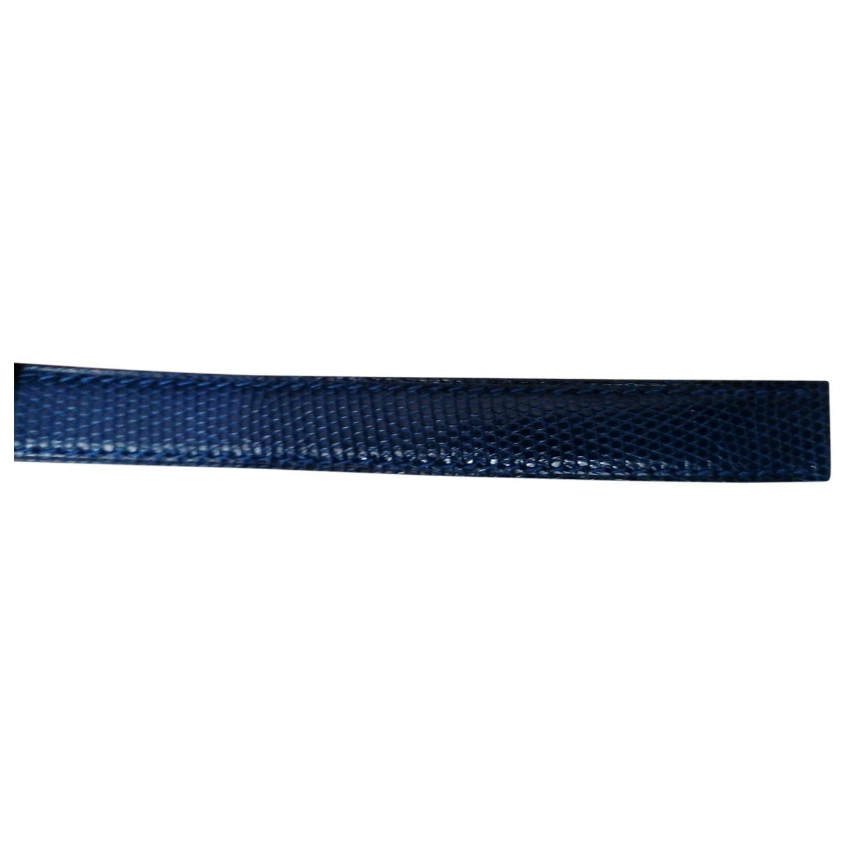 Poiray - Montre Bracelet Ma Premiere pour femme en cuir - bleu