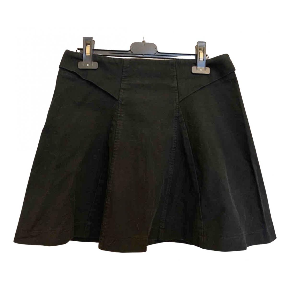 The Kooples \N Black Cotton - elasthane skirt for Women 36 FR