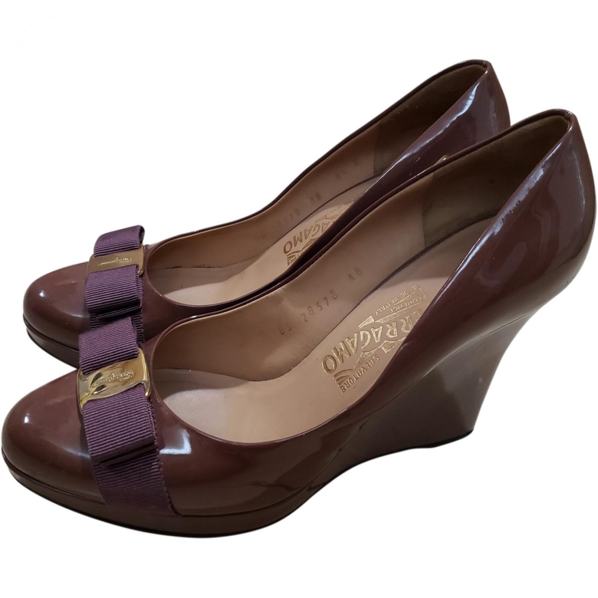 Salvatore Ferragamo \N Purple Patent leather Heels for Women 39 EU