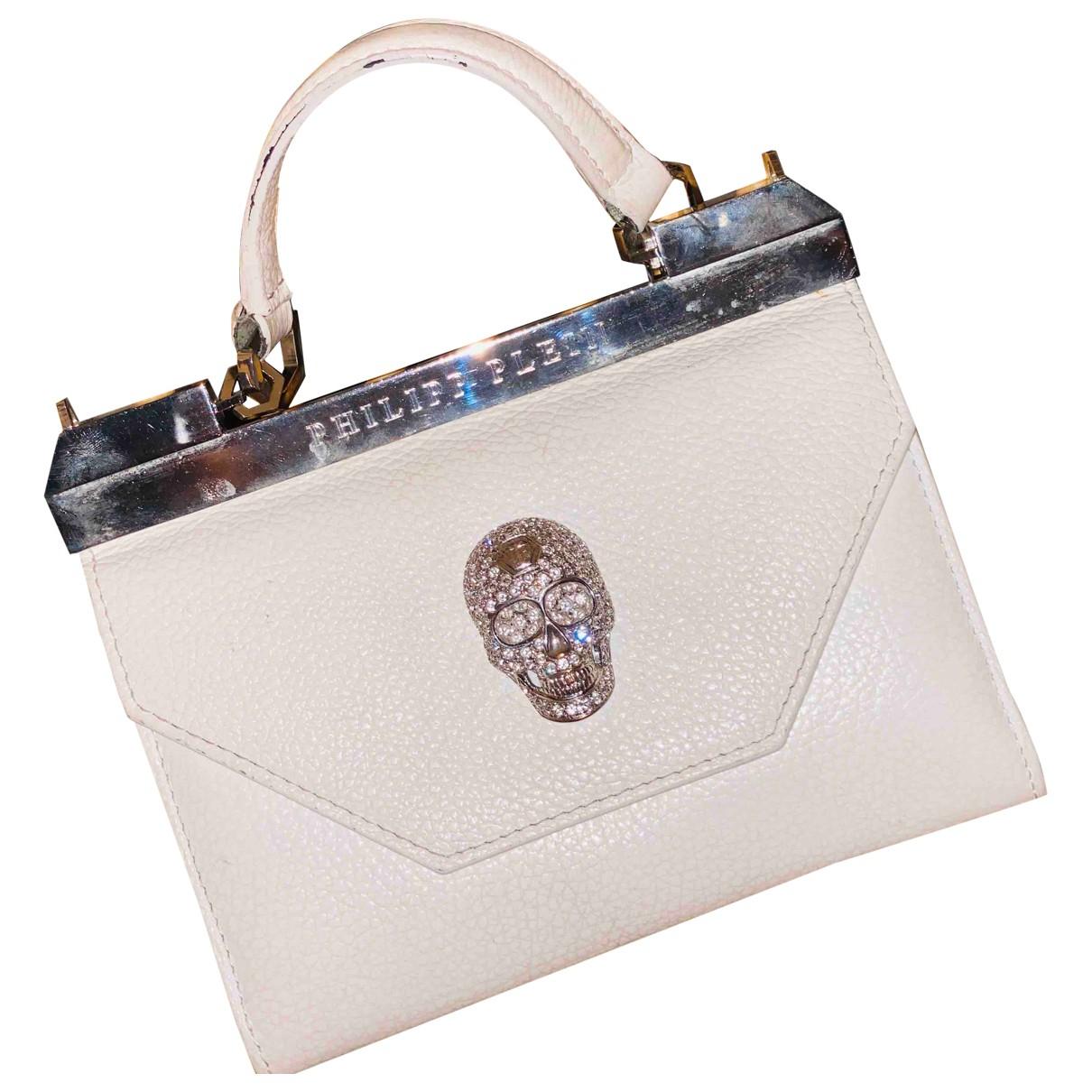 Philipp Plein N White Leather handbag for Women N