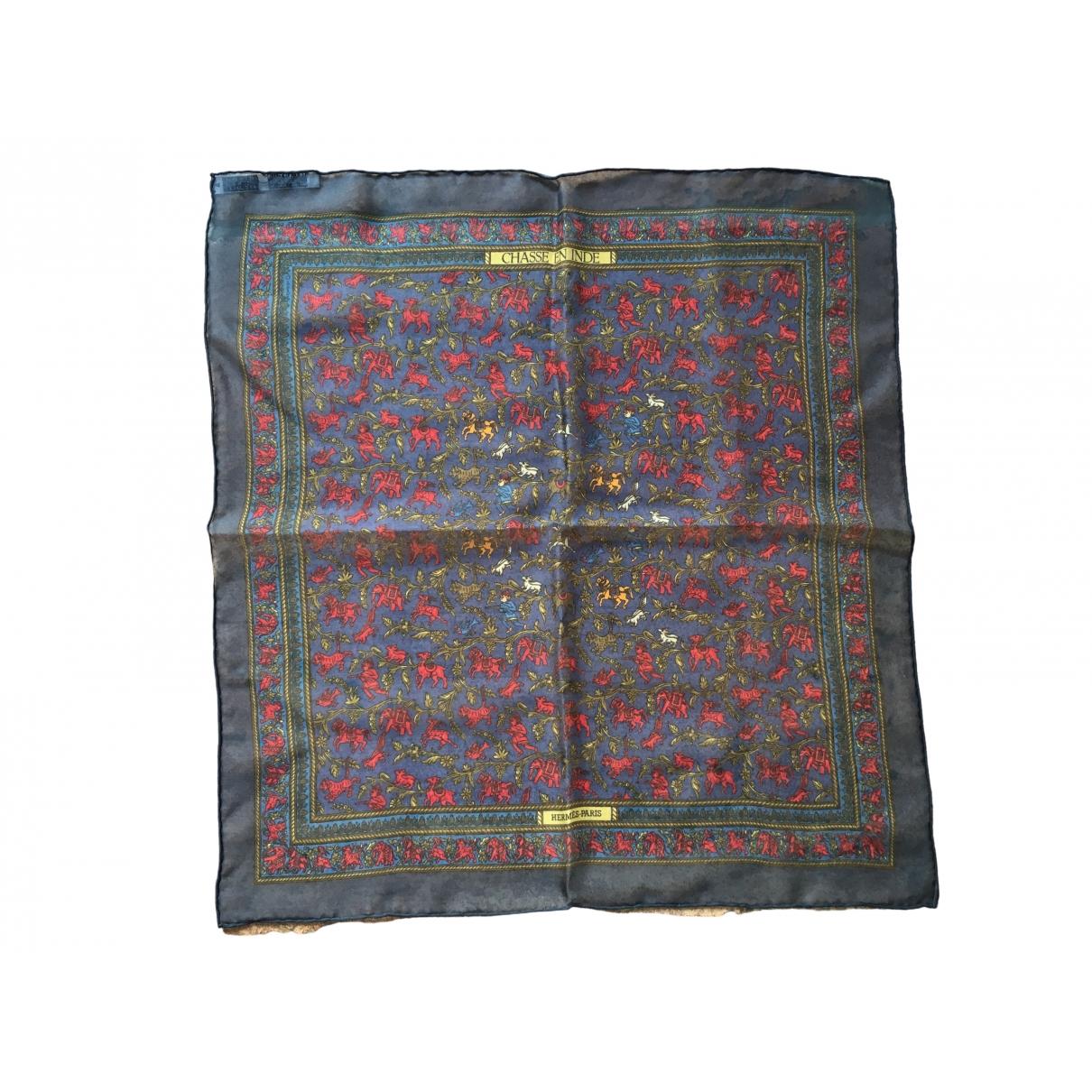 Hermes Gavroche 45 Schal in  Blau Seide