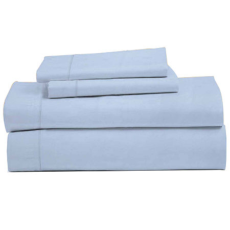 Perthshire Collection 1200tc Deep Pocket Sheet Set, One Size , Blue