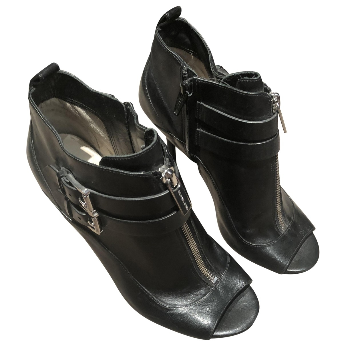 Michael Kors - Escarpins   pour femme en cuir - noir