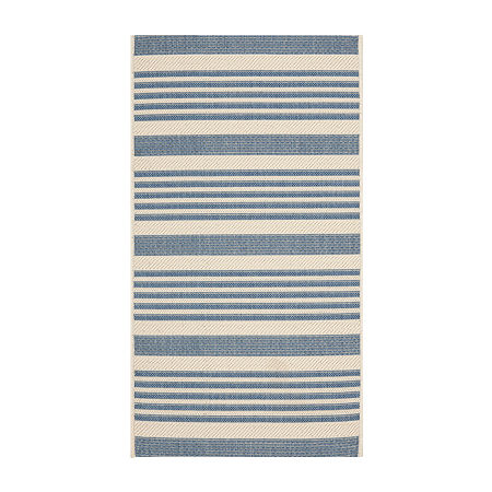 Safavieh Courtyard Collection Santos Stripe Indoor/Outdoor Area Rug, One Size , Multiple Colors
