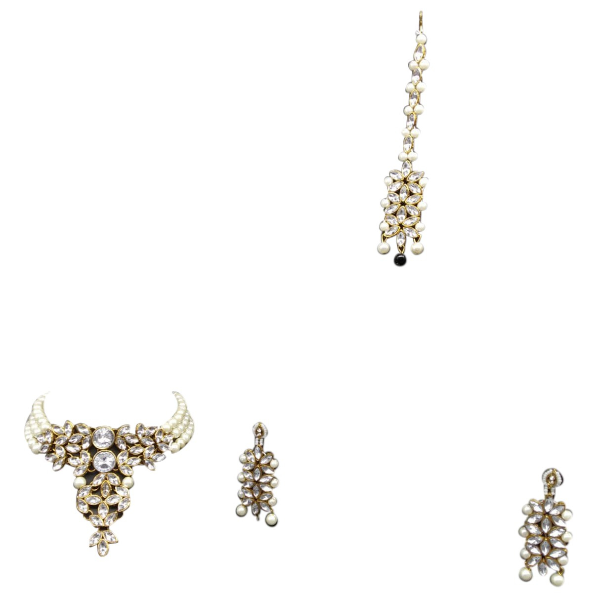 Non Signé / Unsigned \N Black Pearls Jewellery set for Women \N