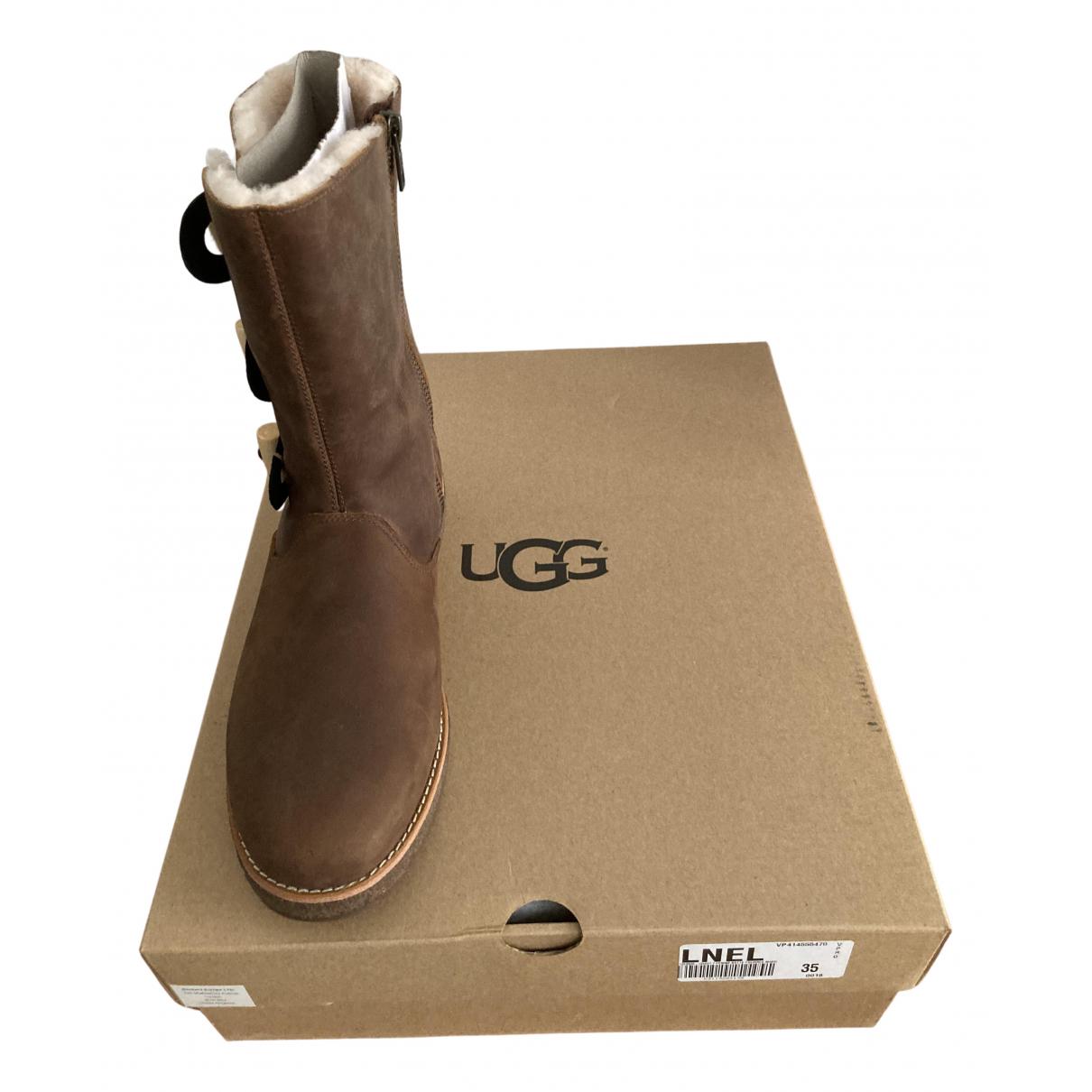 Ugg - Bottes   pour femme en mouton - marron