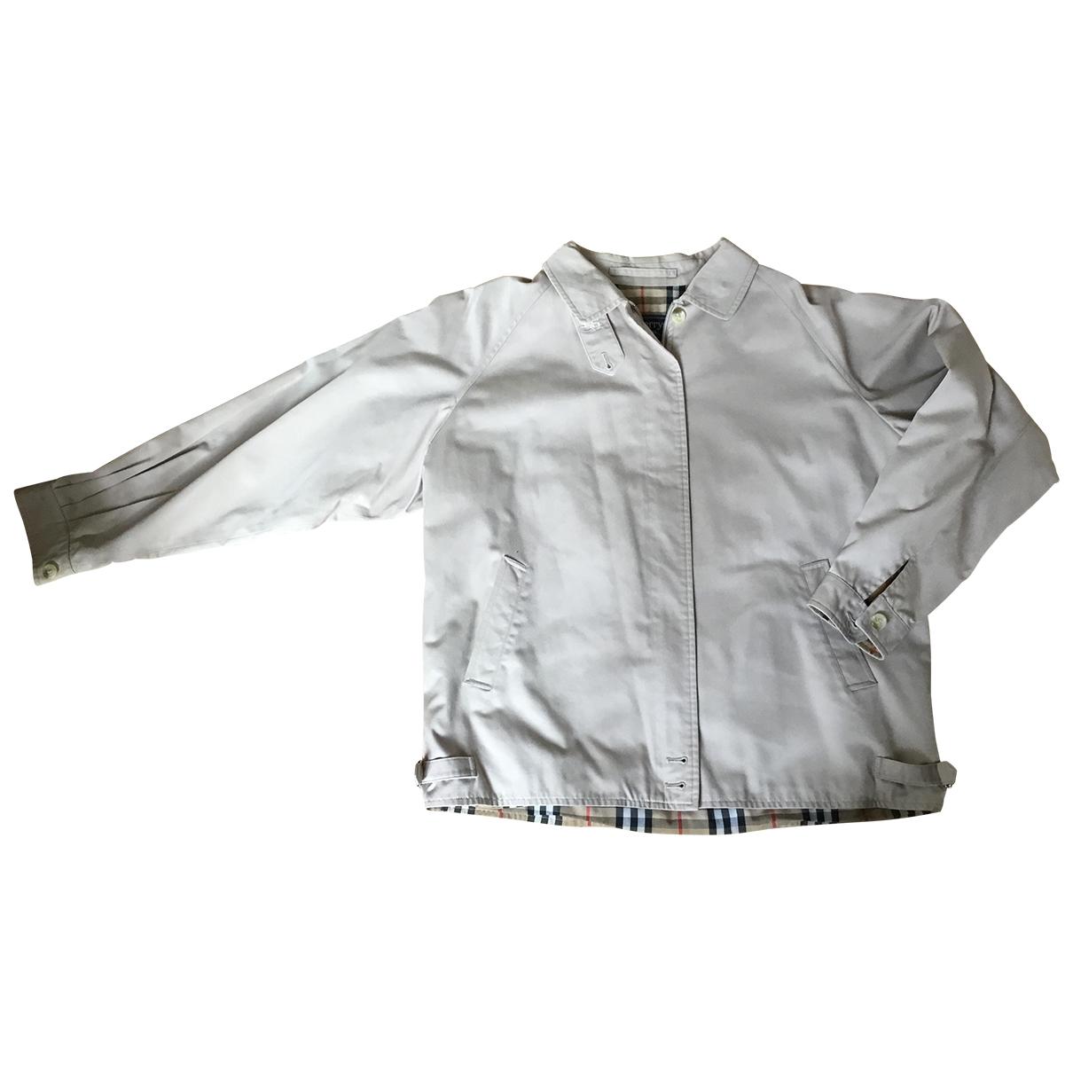 Burberry - Veste   pour femme en coton - ecru