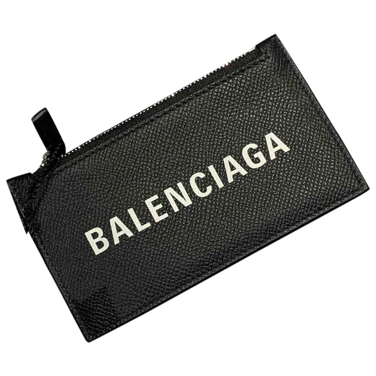 Balenciaga - Petite maroquinerie   pour homme en cuir - noir