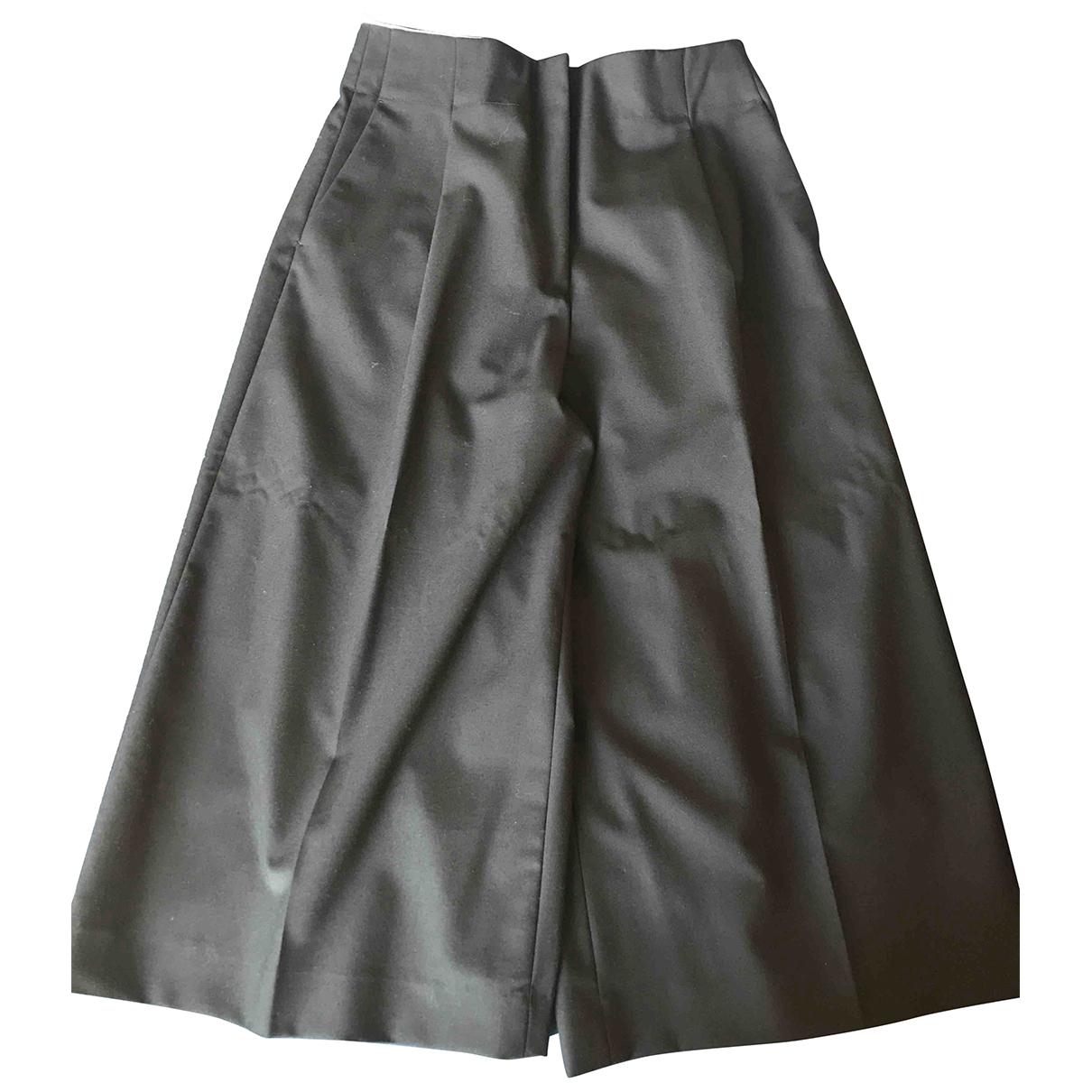 Sandro N Black Wool Trousers for Women 40 FR