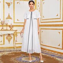 Prendas arabes Encaje en contraste Elegante